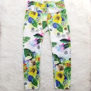 Athleta Floral Print Cropped leggings S